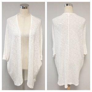➕ Mossimo White Knit Duster Cardigan Sweater 8U